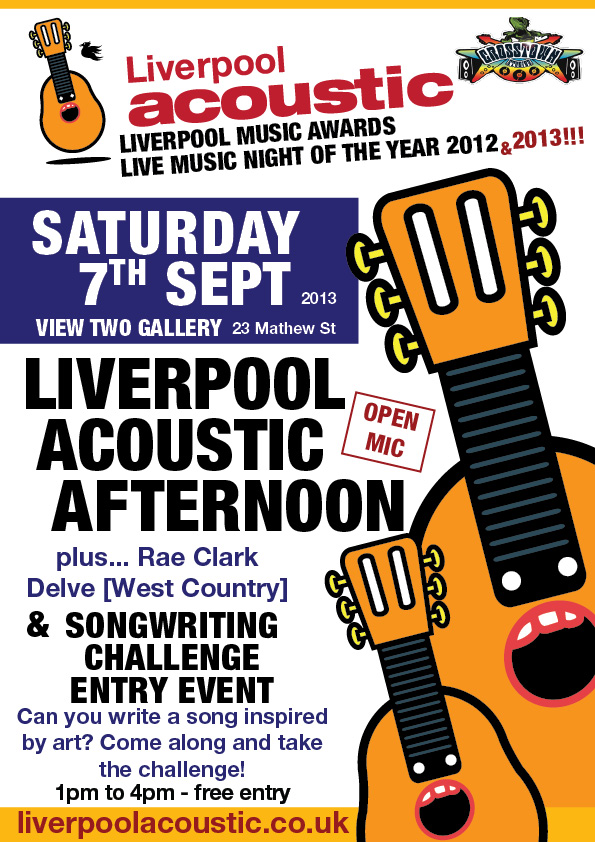 Liverpool Acoustic Songwriting Challenge 2013 entry event